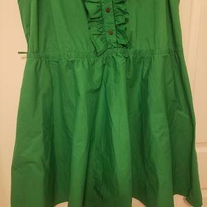 Ashley Stewart's Kelly Green Ruffle Dress
